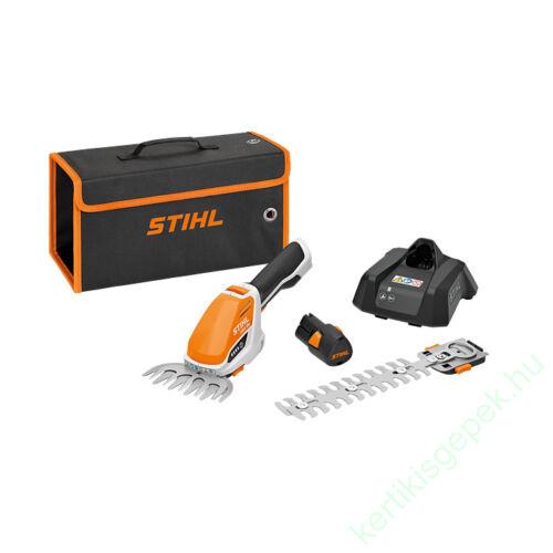 STIHL HSA 26 könnyű és kompakt akkumulátoros sövénynyíró és fűvágó (AS2 akkuval és AL1 tölővel), 20 cm - AS SYSTEM